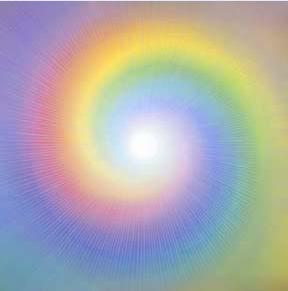 Vortex energy rainbow colors