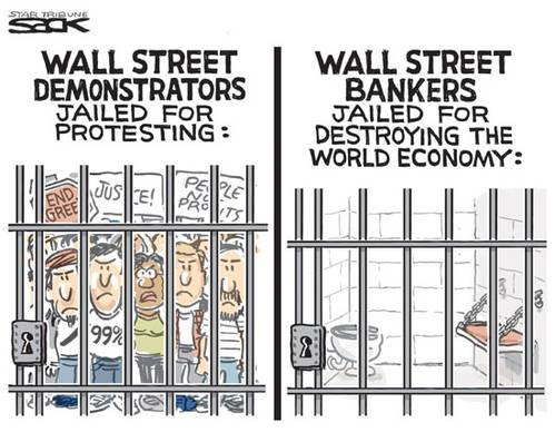 Mass Awakening: American Pictorial Protesters-jailed-but-not-the-financial-crooks-and-robbers