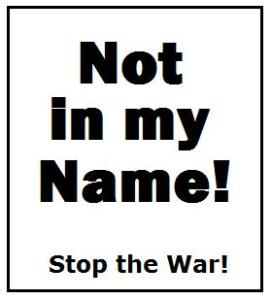 Rogue governments act without consent of the people. Stop the war and bring troops home.