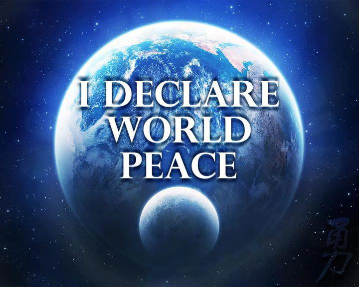 I declare world peace