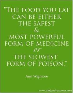 FOOD: Medicine or slow poison