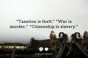 Citizenship is slavery
