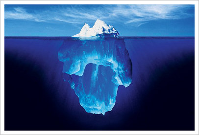 iceberg: much more is hidden below the suface