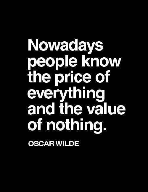 price vs values