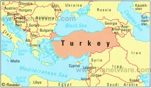 turkey and its neighbours map