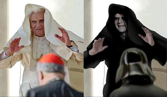 Pope and Star Wars Emperor