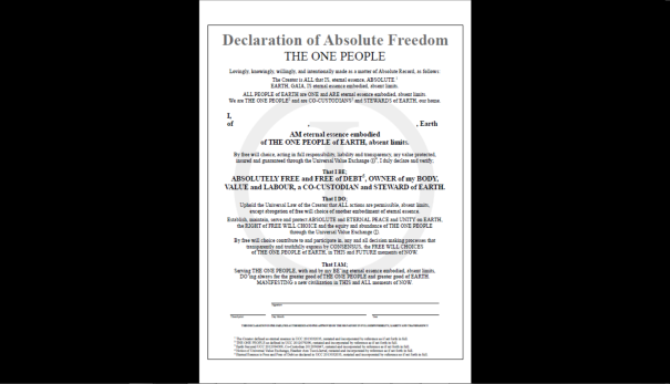 Declaration of Absolute Freedom