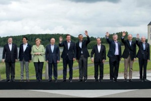 Prime Minister David Cameron has the presidency of the G8 Summit 2013. Canada-Prime Minister Stephen Harper, France-President François Hollande, Germany-Chancellor Angela Merkel, Italy-Prime Minister Enrico Letta, Japan-Prime Minister Shinzō Abe, Russia