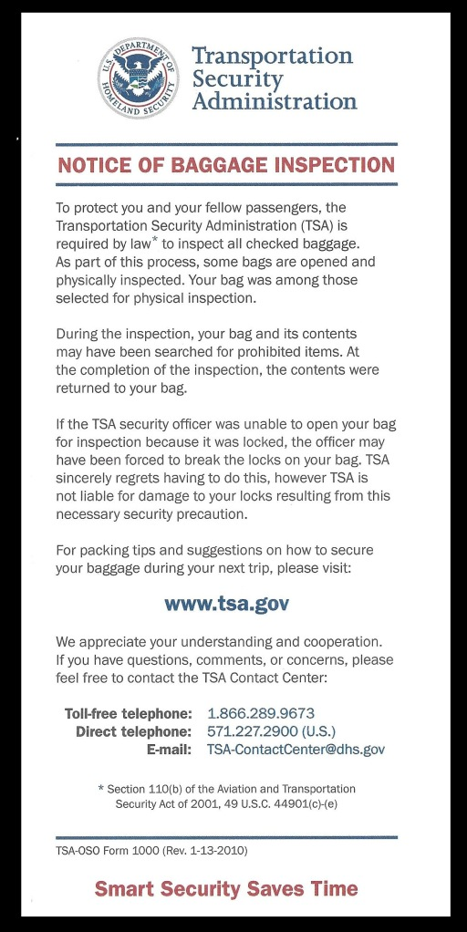 TSA-Inspection