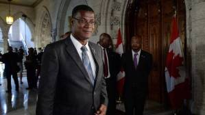 Rufus Ewing_Premier_Turks and Caicos_in the foyer of the House of Commons Ottawa