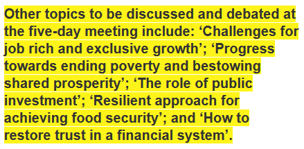 2014 annual IMF and World Bank board meeting