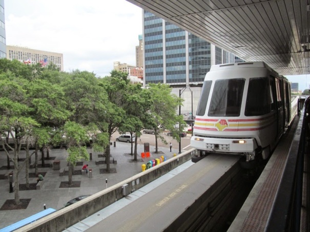 JTA Skyway - 9-9-14 - Train in Central Station