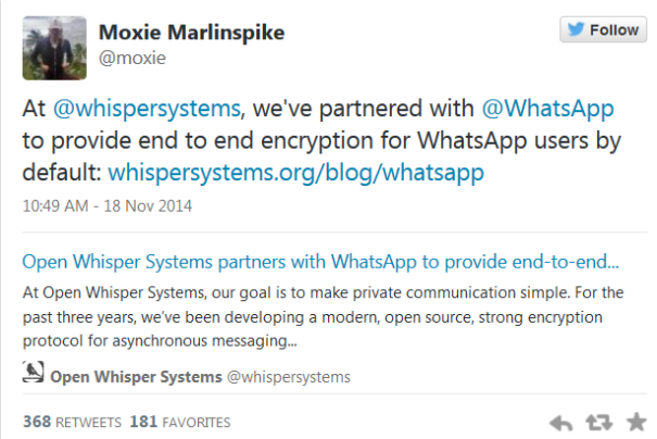 encryption WhatsApp