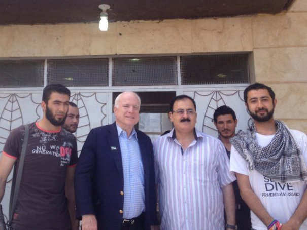 War mongering Senator McCain with known criminal terrorists