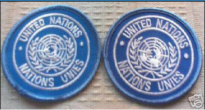 United Nations patch flat earth map