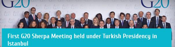 First G20 Sherpa held under Turkish Presidency