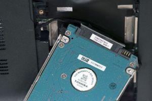 Remove Toshiba hard drive