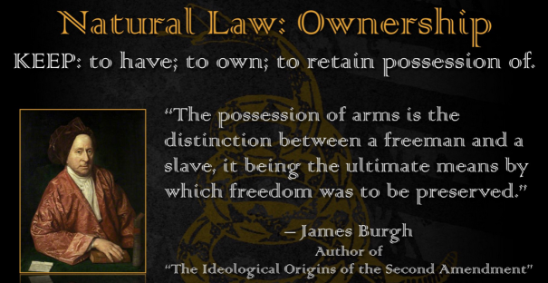 The Right To Bear Arms is The Freeman and Slave Distinction