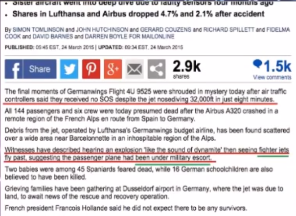 News report: Germanwings Witnesses 24 March 2015