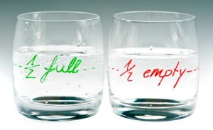 Is the glass half full or half empty?
