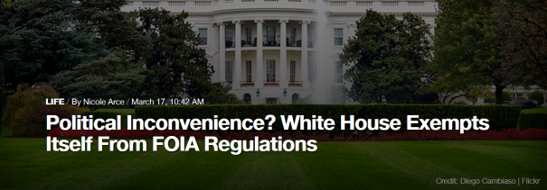 political-inconvenience-white-house-exempts-itself-from-foia-regulations