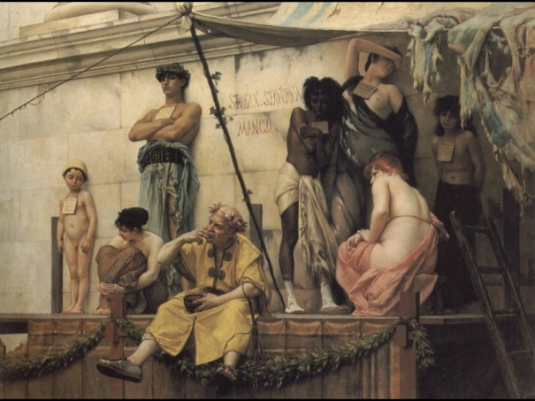 Ancient commerce: the slave market
