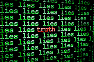 Finding truth amongst the lies