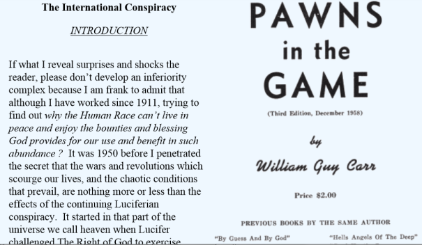 Pawns in the game by William Guy Carr