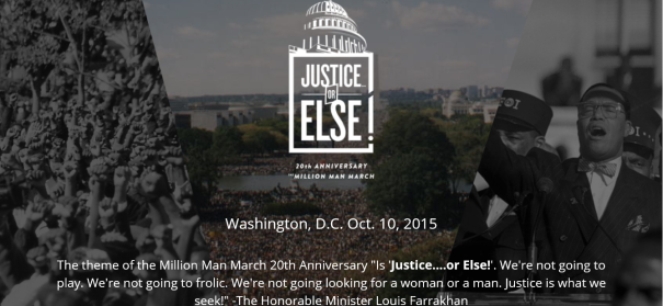 10 October 2015 Million man march scheduled for Washington DC
