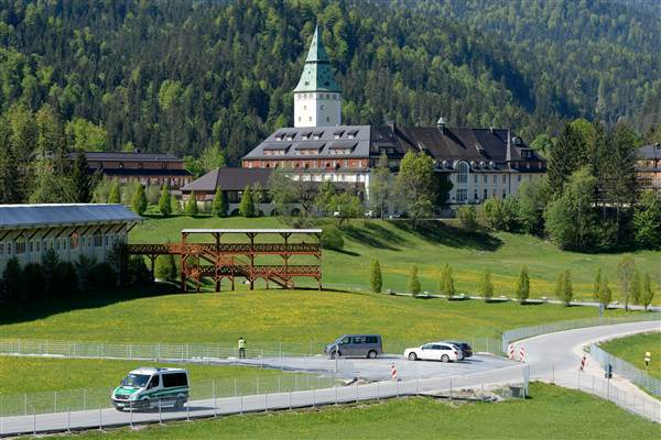 "A police car drives past Castle Elmau, which will host the G-7 summit beginning Sunday. CHRISTOF STACHE / AFP via Getty Images  ""We have mostly dirt roads, which are very difficult and steep,"" he said."