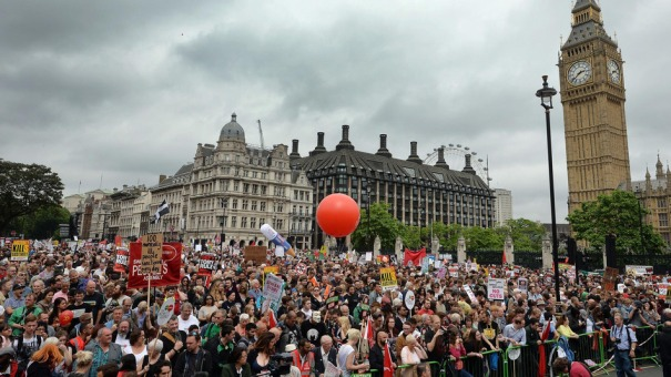Estimated 250,000 London Protests