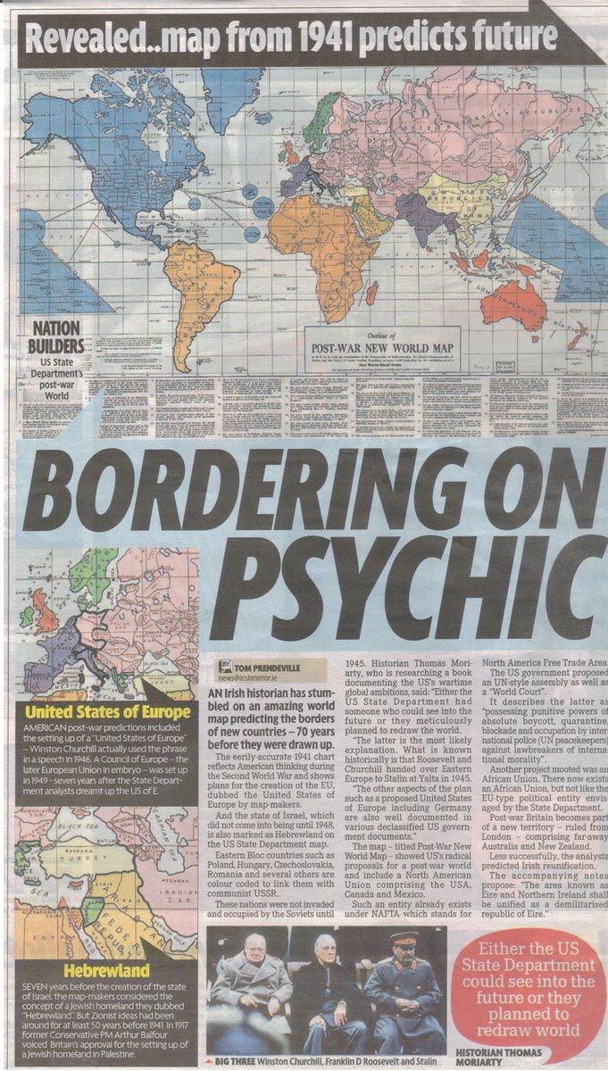 1942 new world order zone map plan