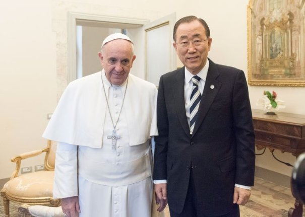 Pope and United Nations Sec. Gen.