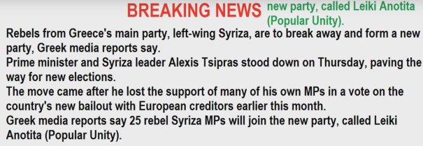 Popular Unity (Grexit) party is born