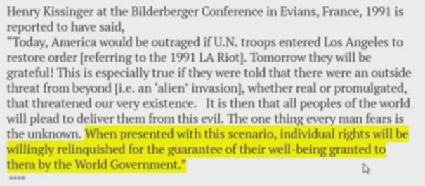 NWO: Fake Alien Invasion will excuse U.N. Armed Forces Martial Law inside America