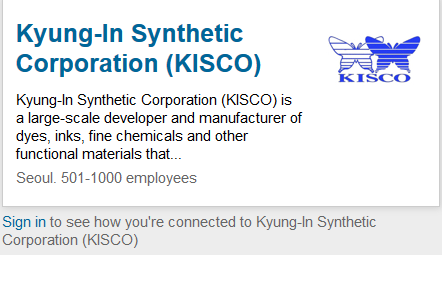 Kyung-In Synthetic Corporation (KISCO)