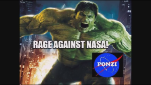 "Bruce Banner, the mild mannered scientist, told NASA: ""Don't make 'em Angry, because they turn into the incredible HULK!"""