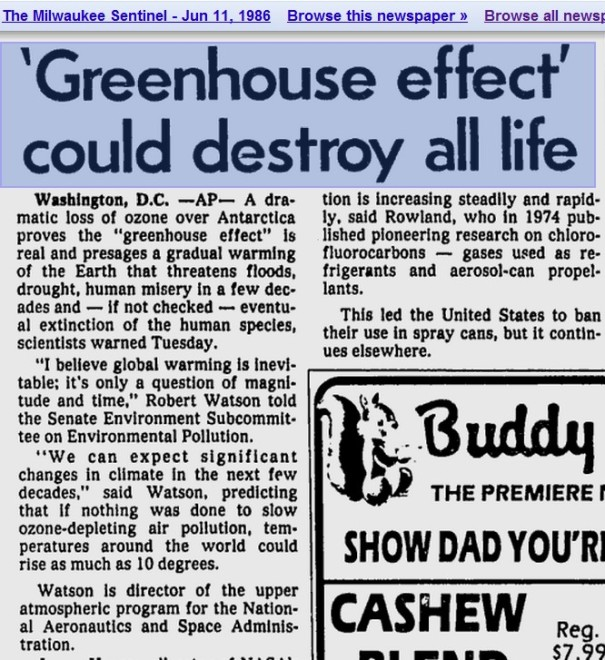 """Greenhouse Effect"" carbon tax scam"