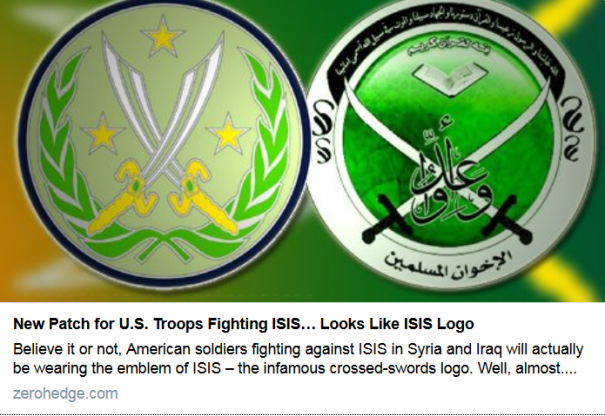 New Patch for US Troops Fighting ISIS Looks Like ISIS Logo