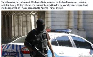 G20 security beefed up ahead of meetings in Antalya Turkey 15-16 Nov 2015