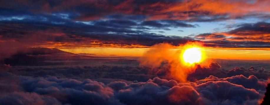 Sunrise from Mount Meru