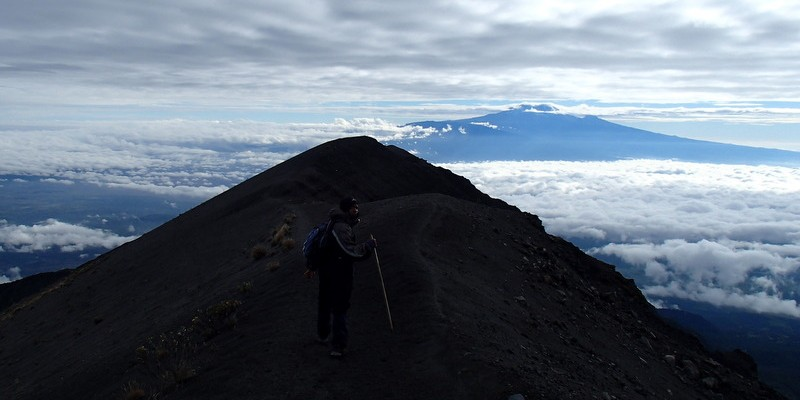 A dangerous trek to the peak