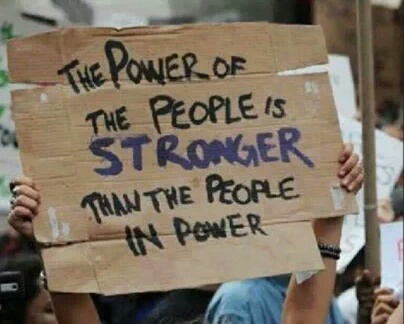 The power of the people is stronger than the people in power