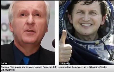 In addition to Google billionaires Page and Schmidt and filmaker Cameron, Planetary resources; avatar movie director James cameron...
