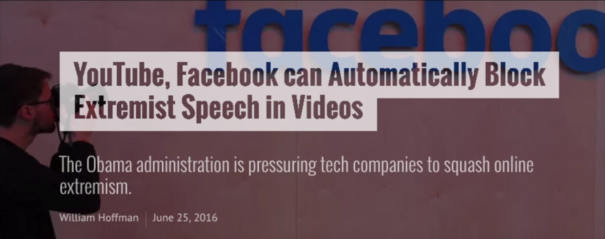 Facebook, Youtube, and others can automatically block content in videos