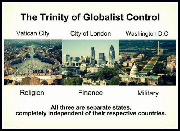 3 City Strates, Holy Trinity for Globalist Control