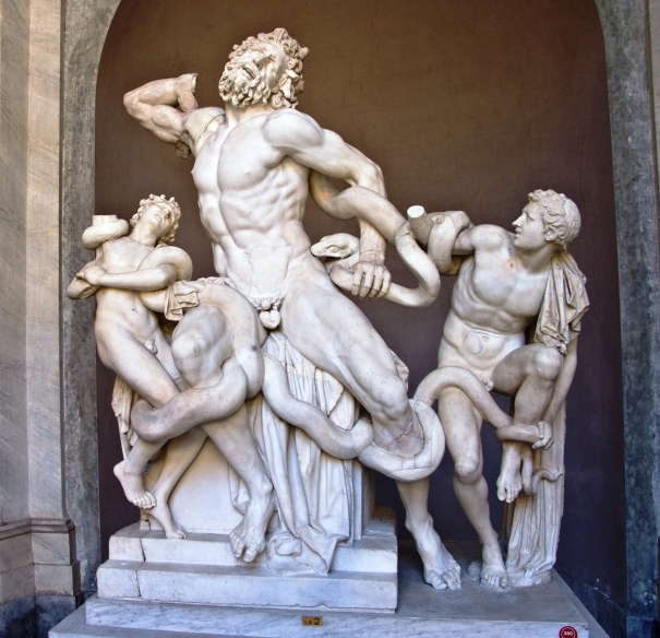 Laocoön and his Sons in the Vatican which is among the works under the care of the Pontifical Commission for the Cultural Heritage of the Church