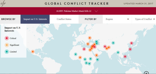 Council on Foreign Relations (CFR) March 31 2017 Global conflict tracker