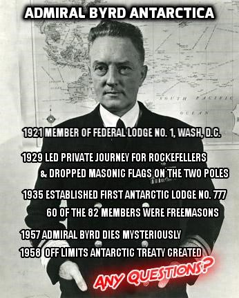 Why was the Antarctic shut off limits by military declaration with the Antarctic Treaty System of some 13 countries in 1958, the exact same year NASA was founded? What did they wish to hide? And why did Admiral Byrd send out a fleet of 30 ships just one year after the end of WWII in 1946 with Operation High Jump. Like to high jump a wall?