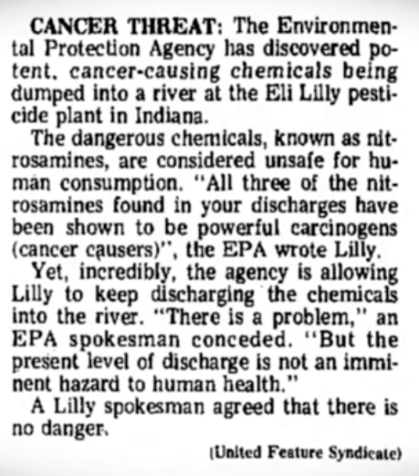 1976 Evidence EPA Protects Corporate Interests